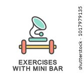 icon exercises with mini bar.... | Shutterstock .eps vector #1017979135