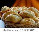 "basket of ""french bread"" ... | Shutterstock . vector #1017979861"