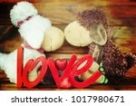 flowers with word love | Shutterstock . vector #1017980671