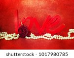 flowers with word love | Shutterstock . vector #1017980785