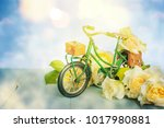 bicycle with flower | Shutterstock . vector #1017980881