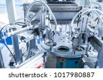 robotic machine tool in... | Shutterstock . vector #1017980887