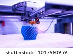 3d printer or additive... | Shutterstock . vector #1017980959