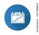 automotive battery flat design... | Shutterstock .eps vector #1017988819