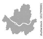 pixel mosaic map of seoul on...