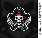 """dead pirate"" mascot logo.... | Shutterstock .eps vector #1017992347"