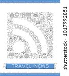 line travel icons are grouped... | Shutterstock .eps vector #1017992851