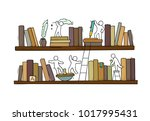 sketch for teamwork  books...   Shutterstock .eps vector #1017995431