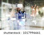 smart industry. industrial and... | Shutterstock . vector #1017996661