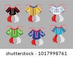 romanian national shirt | Shutterstock .eps vector #1017998761
