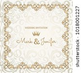 elegant wedding card ... | Shutterstock .eps vector #1018001227