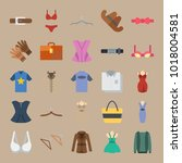 icons clothes and accessories... | Shutterstock .eps vector #1018004581