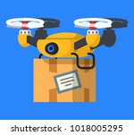 vector illustration with drone. ...   Shutterstock .eps vector #1018005295