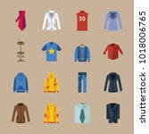icons man clothes with coat ... | Shutterstock .eps vector #1018006765