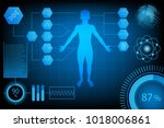abstract futuristic technology... | Shutterstock .eps vector #1018006861