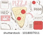 pizzeria placemat   paper... | Shutterstock .eps vector #1018007011