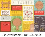 pizzeria placemat   paper... | Shutterstock .eps vector #1018007035