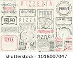 pizzeria placemat   paper... | Shutterstock .eps vector #1018007047