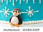 Winter Penguin Sculpture
