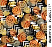 seamless pattern with african...   Shutterstock . vector #1018013797