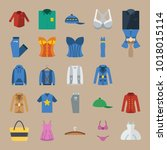 icons clothes and accessories... | Shutterstock .eps vector #1018015114