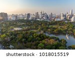scenic view of the lumpini ... | Shutterstock . vector #1018015519