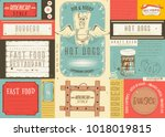 fast food restaurant placemat   ... | Shutterstock .eps vector #1018019815