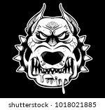 graphic very big angry... | Shutterstock .eps vector #1018021885