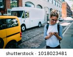 Young Woman With Smartphone...
