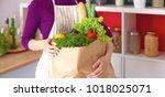 healthy positive happy woman...   Shutterstock . vector #1018025071
