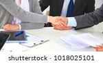 business handshake. two...   Shutterstock . vector #1018025101