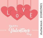 concept   love background and... | Shutterstock .eps vector #1018025821