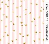 gold heart seamless pattern.... | Shutterstock .eps vector #1018027915