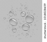 water bubbles template set on... | Shutterstock .eps vector #1018028659