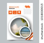 flyer design template. brochure ... | Shutterstock .eps vector #1018030015