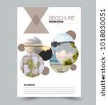 flyer design template. brochure ... | Shutterstock .eps vector #1018030051