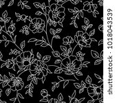 seamless pattern with flowers.... | Shutterstock .eps vector #1018043539