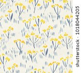 seamless watercolor floral... | Shutterstock . vector #1018044205