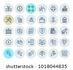 cryptocurrency icons collection.... | Shutterstock .eps vector #1018044835