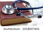 medical stethoscope with old...   Shutterstock . vector #1018047601
