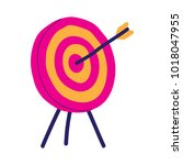 arrow hitting dart board... | Shutterstock .eps vector #1018047955