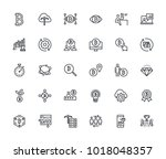 set of thin line cryptocurrency ... | Shutterstock .eps vector #1018048357