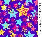 abstract seamless vector... | Shutterstock .eps vector #1018051201