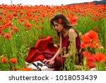 drug  narcotics  opium  woman...   Shutterstock . vector #1018053439
