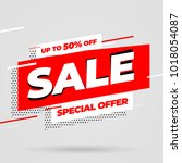 sale banner template design ... | Shutterstock .eps vector #1018054087