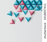3d realistic triangle... | Shutterstock .eps vector #1018057411