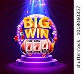 big win slots 777 banner casino.... | Shutterstock .eps vector #1018060357