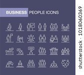business people icons set... | Shutterstock .eps vector #1018060369