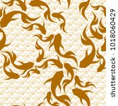 japanese seamless pattern with... | Shutterstock .eps vector #1018060429