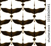 japanese seamless pattern with... | Shutterstock .eps vector #1018060441